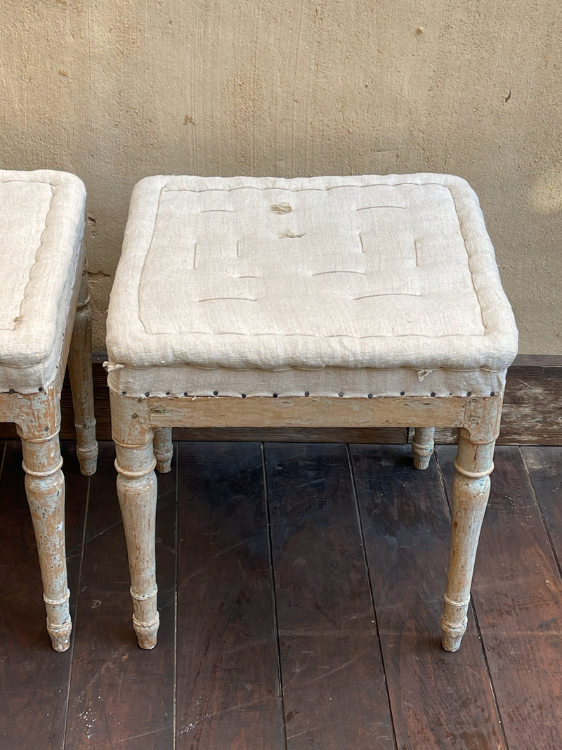 Pair Swedish Stools